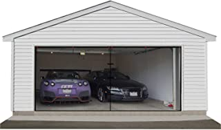 2 Car Garage Door Screen 16x7ft, Garage Screen Mesh with Hook and Loop Easy to Install Durable Garage Screen Curtain Cover Kit with Heavy Duty
