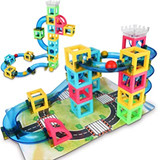 Gamenote Marble Run Set Game - 32pcs STEM Learning Toy for kids, Education Construction Maze Race Game Set (Storage Bag & Guidebook Include)