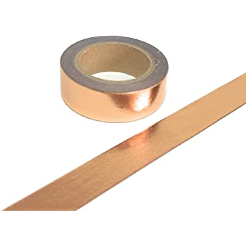 POWERTOOL 2PCS Copper Foil Tape with Single-Sided Conductive Adhesive for EMI Shielding 5mmx10m Crafts Electrical Repairs Slug Repellent Paper Circuits