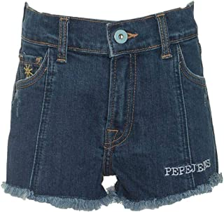 Pepe Jeans -Short Vaquero PG800583 Patty Flow 000 Denim -PANTALÓN Corto Vaquero NIÑA