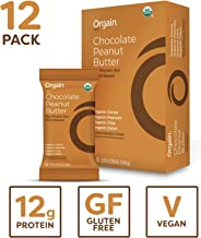 Orgain Organic Simple Protein Bars, Chocolate Peanut Butter - Vegan, Plant Based, 6g Dietary Fiber, Dairy Free, Gluten Free, Soy Free, Lactose Free, Kosher, Non-GMO, 2.05 Ounce, 12 Count