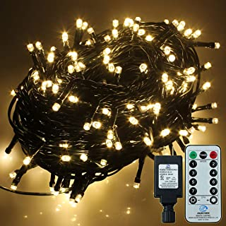 YosionLEDStringLights with Remote Control,338ft 1000 LED Warm White DecorativeLightsforChristmasTree,Wedding,Party,Patio,Garden.8Modes/LowVoltage/ULAdapter.