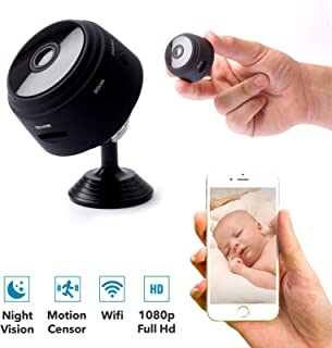 Hidden WiFi Camera Spy Camera Wireless WiFi 1080p Camera Nanny Security Camera Cams with App for Home and Office Indoor Outdoor with Night Vision and Motion Detection