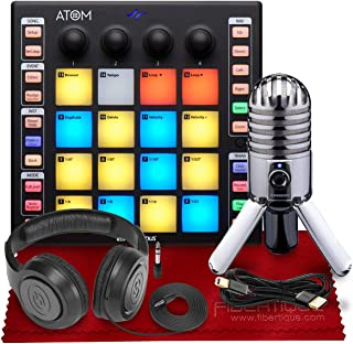 PreSonus ATOM Production and Performance Pad Controller - Deluxe Accessory Bundle With Condenser Microphone & More