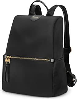 TUCCH Women Backpack, 15L Anti-Theft Foldable Ladies Casual Daypack with Double Zippers Lightweight Water Resistant Nylon College School Rucksack Fashion Shoulder Bag for Travel/Business/Girls, Black