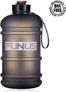 Half Gallon Water Bottle Dishwasher Safe Tritan US BPA Free 2 Litre Big Water Bottles Leak Proof Reusable Large Water Jugs with Spout Gym Water Bottle for Sports Hydrate Water Bottle