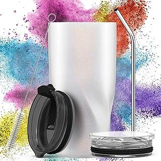 Avoalre Termo Café para Llevar de Acero Inoxidable 20OZ / 580ml | Taza Termo Cafe para Llevar sin BPA | Vaso Termico Cafe para Llevar | Tazas Termicas para Llevar - Blanc Crème