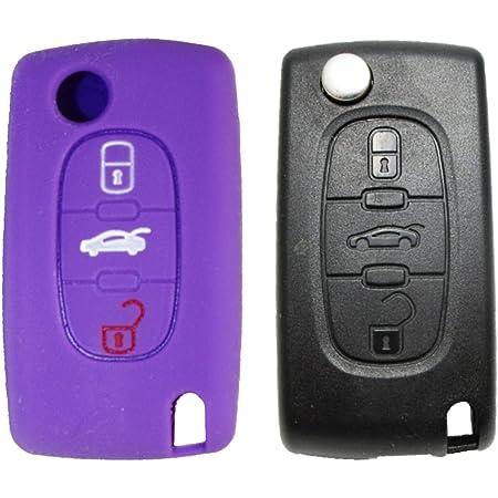 1x Lila Autoschlüsselhülle Peugeot Elektronik