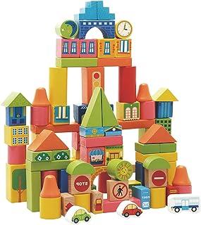 Al Ostoura Toys 72PCS Traffic Blocks Educational Wooden Toy