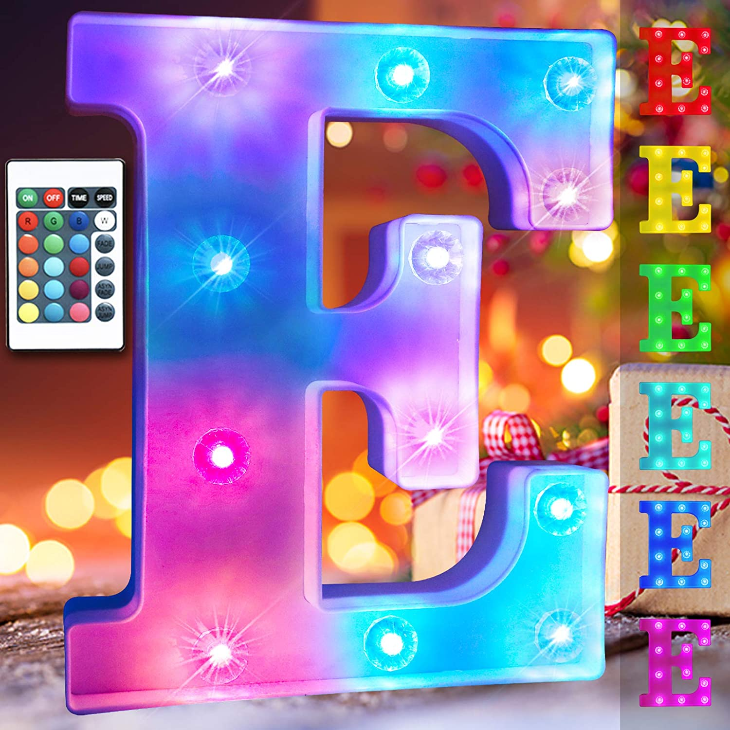 Colorful Changing LED Letter Lights Oper Topics Indianapolis Mall on TV Alphabet Battery Signs