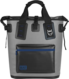 BUILT 5233505 Welded Soft Cooler Backpack with Wide Mouth Opening - Insulated and Leak-Proof, One Size, Pewter Gray