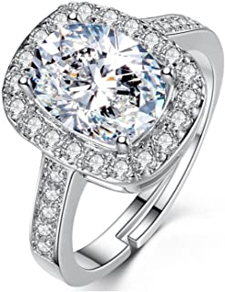 YouBella Solitaire Crystal Jewellery Silver Plated Ring for Women (Silver)(YBRG_20019)