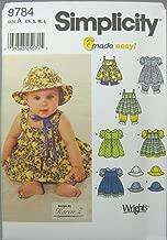 Simplicity Sewing Pattern 9784 Babies Dresses, A (XS-S-M-L)