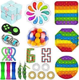 Eunpoie - Juego de juguetes sensoriales, juguetes sensoriales de compresión personalizados, juguete para aliviar el estrés...
