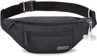 MAXTOP Bumbag Waist Fanny Pack Running Belt for Men Women Unisex Bum Bag with Headphone Jack and 4-Zipper Pockets Adjustab...