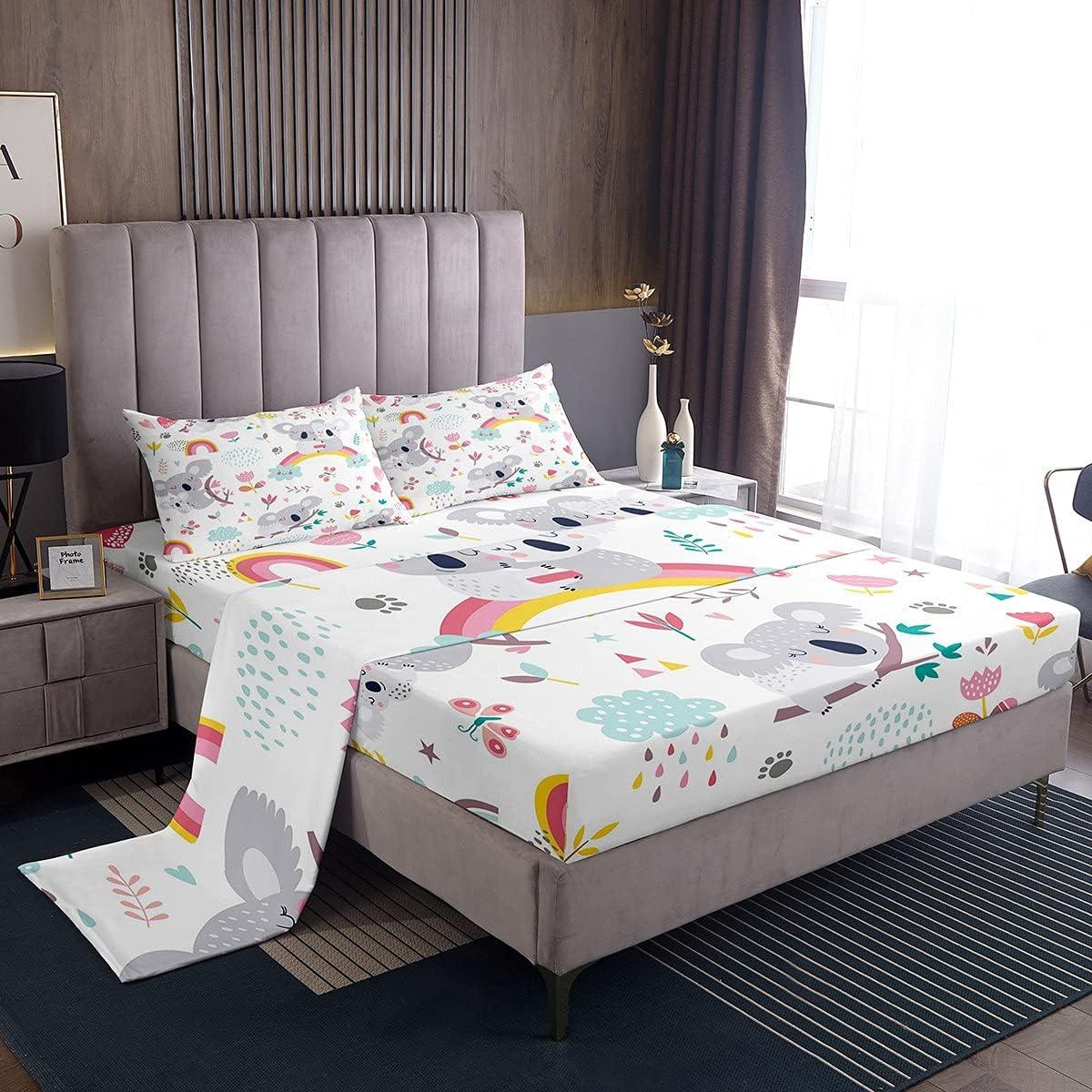 Feelyou Kids Bed Sheet Twin Koala Cute Rapid rise Bargain sale Set Anima Sheets Children