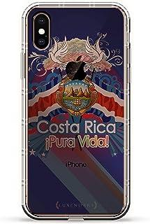 ALBANIAN FLAG 奢华空气系列透明硅胶手机壳带 3D 印花设计和气袋垫缓冲垫适用于 iPhone Xs Max(新款 2018/2019 型号,带 6.5 英寸屏幕)LUX-IXPLAIR-COSTARICA1 COSTA RICA FLAG 透明