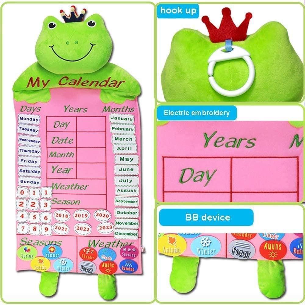 GCX Quiet boek, een boek for Learning The Senses, A Toy for het begrijpen van het jaar/maand/dag/week Borduren doek boek Voortreffelijk (Color : B) C