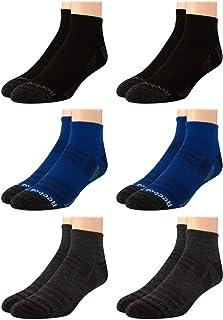 Rebook Men's Athletic Quarter Socks with Cushion Comfort (6 Pack)