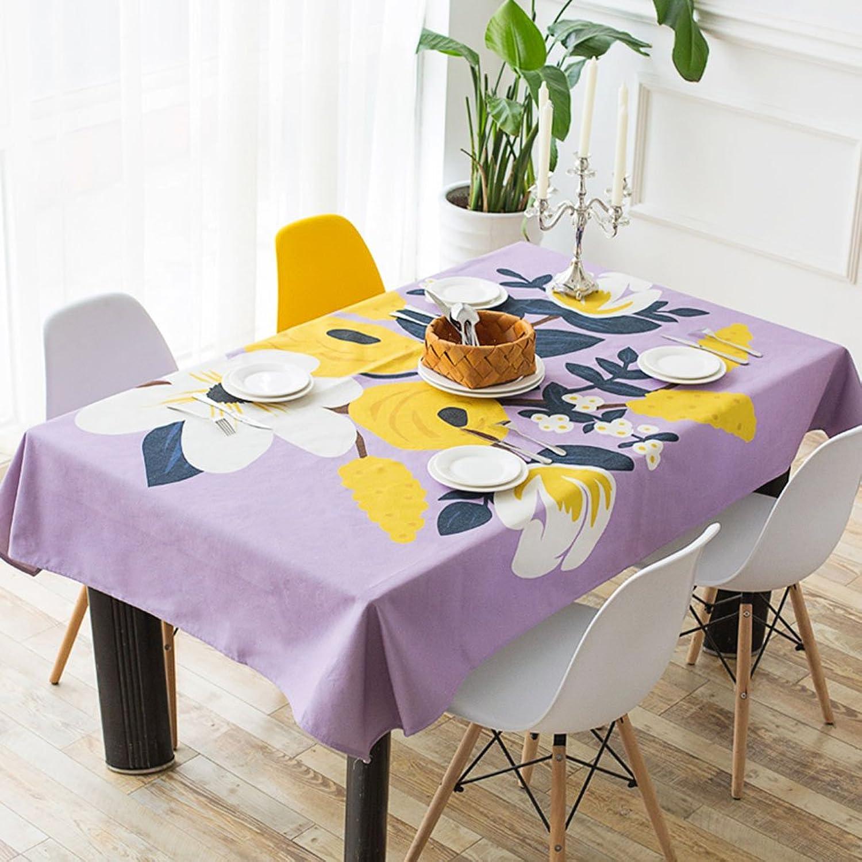 ropa de cocina Manteles rectangulares, mantel de lino de algodón Toalla de salón de la sala de estar, manteles de mesa de café ( Color   D , Tamao   100140cm )