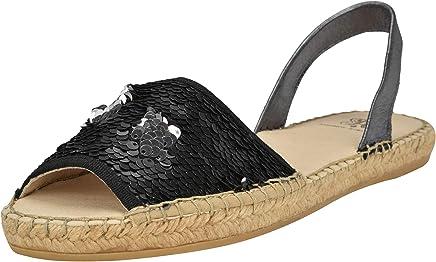 22101dc8e2 ANDREW STEVENS Jenna Fashion Platform Flat Sandals for Women   Sparkling  Espadrille Slip-on Shoes