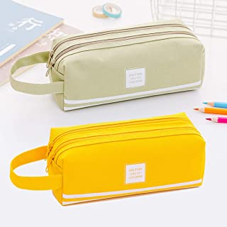 Large Pencil Case Big Capacity 2 Compartments Waterproof Oxford Pencil Pouch for Teen..