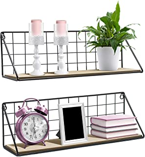Sorbus Floating Shelves Wall Mounted Rustic Wood Storage Set for Picture Frames,..