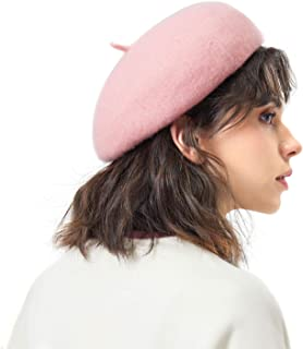 Opromo Classic French Style Beret Artist Basque Tam Hat Women Girls