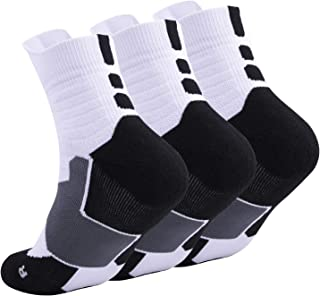 Hurriman Basketball Elite Socks, Basketball Compression Performance Socks, Athletic Sports Cushion Crew Socks