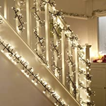 WED 400 LED Twinkle Lights,Christmas Cluster Lights 23 Foot with Warm White Lights with 8 Twinkle Function for Christmas Decor Trees Parties Bedroom