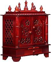 Home Temple, Wooden Temple, Pooja Mandir for Home (Medium-18 X 12 X 24 (WXDXH) inch, HON)