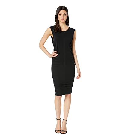 Majestic Filatures Cotton/Elastane Sleeveless Dress (Noir) Women