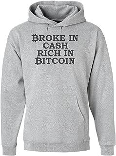 Broke in Cash Rich in Bitcoin Men's Hoodie Pullover