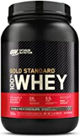 Optimum Nutrition (ON) Gold Standard 100% Whey Protein Powder - 2 lbs, 907 g (Double Rich Chocolate), Primary Source...