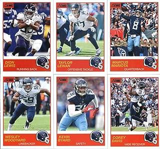 2019 Panini Score Football Veteran Tennessee Titans Team Set of 11 Cards: Marcus Mariota(#72), Dion Lewis(#73), Corey Davis(#74), Kevin Byard(#75), Wesley Woodyard(#76), Derrick Henry(#77), Tajae Sharpe(#78), Jonnu Smith(#79), Jayon Brown(#80), Brian Orak