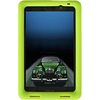 BobjGear Bobj Rugged Case for ASUS MeMO Pad 7 Models ME176C, ME176CX, ME176CE, K013, K013C (Not for MeMO 7 LTE) Custom Fit - Patented Venting - Sound Amplification - Kid Friendly (Gotcha Green)