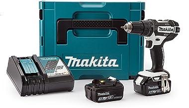 Makita DHP482RFWJ - Kit Makpac de taladro LXT Combi 18V 2x3.0 Ah, ion de litio