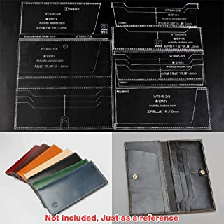 WUTA Leather Craft Template Acrylic Pattern Long Wallet Cutting Model for Beginner DIY Handmade Simple Clutch Long Purse WT845