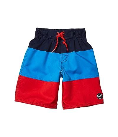 Speedo Kids Blocked Volley Shorts (Little Kids/Big Kids) (Blue/Red) Boy