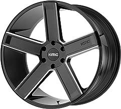 4 KMC KM702 24x9.5 6x5.5 30mm Black/Milled Wheels Rims 24