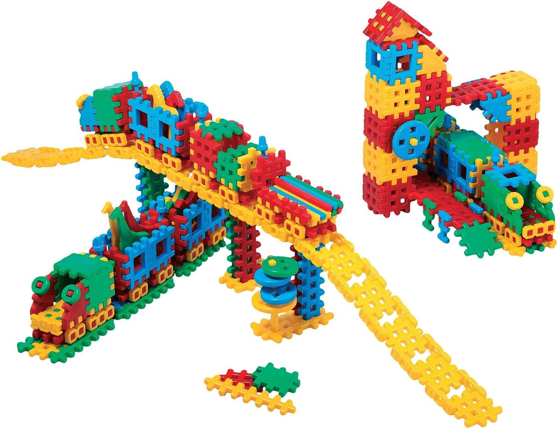 Marioinex Baukasten Bahnhof 433 Bausteine Bauklötze Bahnhof Spielzeug für Kinder ab 2 Jahre Set Konstruktionsspielzeug Groß Karton Konstruktion B015XWGQLG  Spielzeugwelt, fröhlicher Ozean    | Am wirtschaftlichsten
