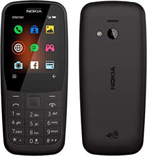 Nokia 220 4G (Official Australian Version) 2019 Basic Unlocked Mobile Phone with Keypad, Camera, FM Radio and Games, Black