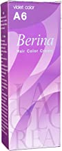 Berina Permanent Hair Dye Color Cream # A6 Violet Made in Thailand