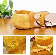 北欧フィンランド木製 本物ククサ Kuksa Koivumaa(コイヴマー)90cc 白樺のコブ使用 説明書 箱包装 木製ヴィンテージスプーン付き