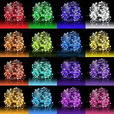 Amazon Com Led Fairy Lights 33ft 100 Leds Battery Operated String Lights Waterproof Multi Color Changing Firefly Lights With Remote Control For Indoor Outdoor Bedroom Patio Wedding Party Christmas Decorations Home Improvement