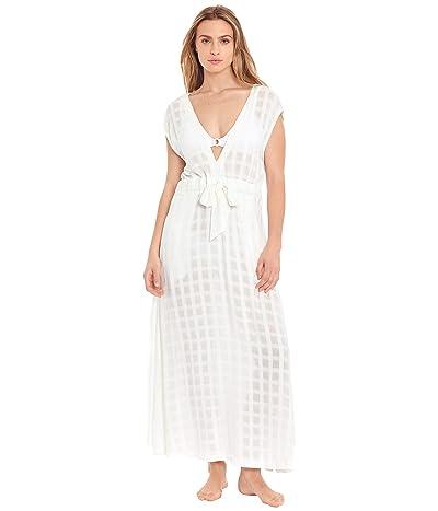 Polo Ralph Lauren Woven Plaid Plunge Midi Dress Cover-Up