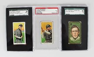Double Play Lot of (3) Cards - 1911 T205 Joe Tinker (SGC VG 3), 1910 T206 Frank Chance (PSA VG 3) & Johnny Evers (SGC VG/EX 4)