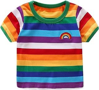Kids Rainbow Stripe T-Shirt 1-8T