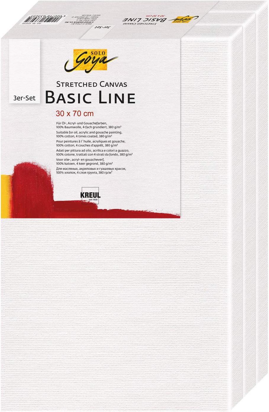Leinwand aus Baumwolle 4 fach grundiert Kreul 504080 Solo Goya Stretched Canvas Premium Line Keilrahmen 40 x 80 cm in Premiumqualit/ät ideal f/ür /Öl- Acryl- und Gouachefarben