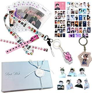 Kpop Jungkook Fans Gift Set for Army Daughter Bangtan Boys Box Include Stickers, Lomo Cards, Lanyard and Keychain